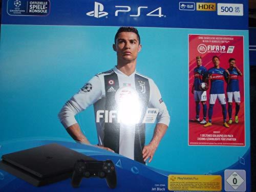 Sony PlayStation 4 Slim + FIFA 19 schwarz 500 GB
