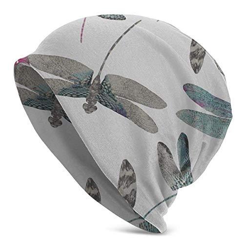AOOEDM - Gorro holgado y cómodo unisex con diseño de calavera holgado y elástico