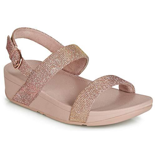 FitFlop Lottie Sandal-Holiday Glitz, Sandalias de Punta Descubierta para Mujer, Rosa (Rose Gold 323), 38 EU