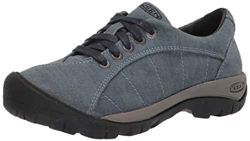 KEEN Women's Presidio Canvas Classic Hiking Sneaker, Blue, 8.5 M (Medium) US