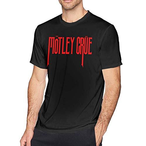 Pimkly Camisetas y Tops,Polos y Camisas, Motley Crue Mens Fashion Casual Short Sleeve Crew Neck T Shirt