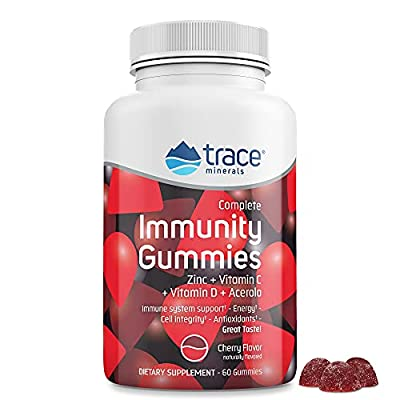 Complete Immunity Gummies (60 Ct) - with Vitamin C, Zinc, Vitamin D, & Acerola Cherry - Delicious, Essential 4-in-1 Immune Support for Kids & Adults - Immune Defense & Energy Support (Cherry Flavor)