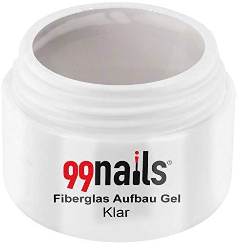 99 Nails fibre de verre structure Gel – Transparent, pack de 1 (1 x 15 ml)
