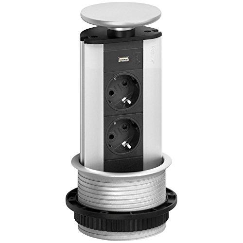 Schulte Stekkerdoos EVOline Port Cuisine | 2x Schuko-stopcontact | 1x USB-oplader | 1 stuk | 159310398800