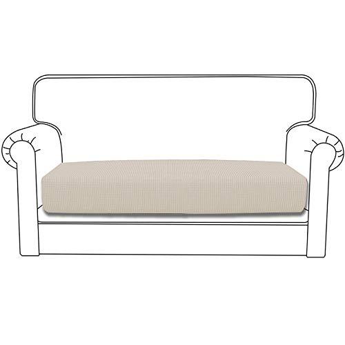 Silingsan Sofa Überwürfe Sofabezug Jacquard Elastische Spandex Couchbezug für Sofa rutschfest Möbelschutz(2 Sitzer, hellgelb)
