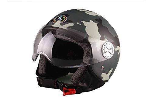 AL Helmets CASCO DEMI-JET MOD. 101 CAMOUFLAGE-MIMETICO GRIGIO MISURA L