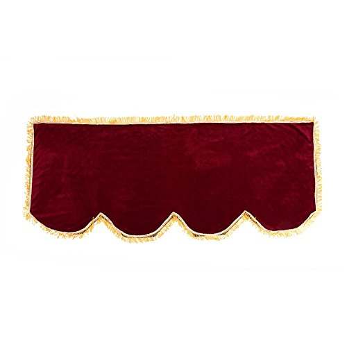 ピアノ キーボード 防塵カバー 電子ピアノ 鍵盤 カバー デジタルピアノカバー 61/88鍵用 ゴールドベルベット製 アクセサリー (61キー, ワインレット)