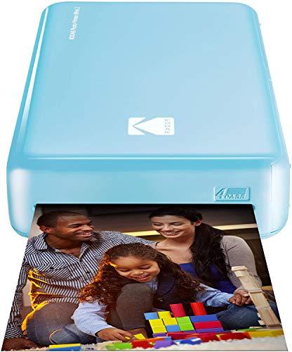 Kodak Mini 2 HD Wireless Mobile Instant Fotodrucker w / 4 Pass patentierte Drucktechnologie (Blau) - Kompatibel mit iOS & Android-Geräte - Echte Tinte in Einem Instant