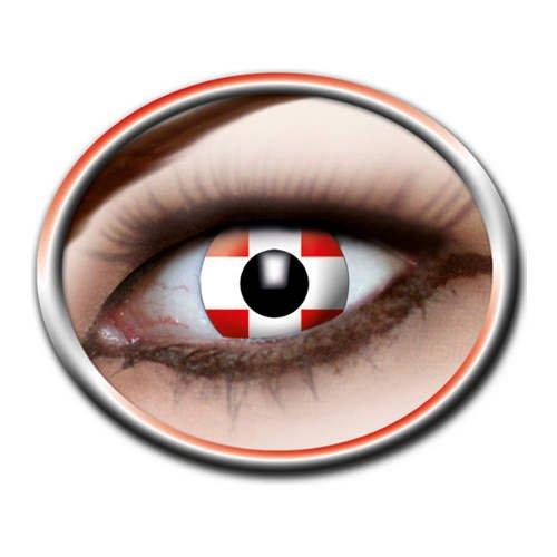 Eyecatcher Kontaktlinsen Schweiz rot-Weiss Einheitsgröße