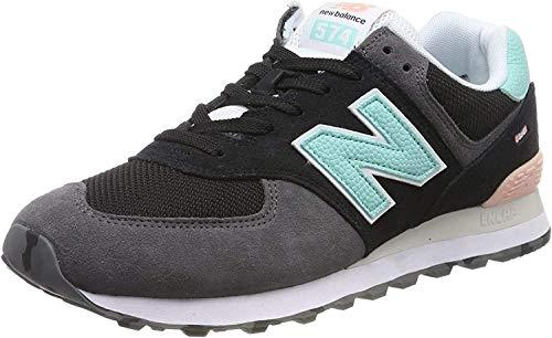 New Balance Herren 574v2 Sneaker, Schwarz(Schwarz (Black Black)), 45 EU