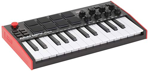 AKAI Professional MPK Mini MK3 - 25 Key USB MIDI Keyboard Controller With 8 Backlit Drum Pads, 8 Knobs and Music Production Software Included