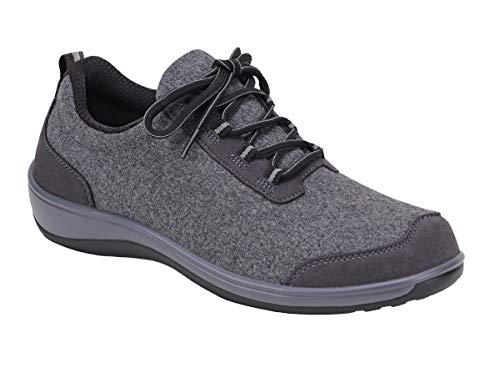 Orthofeet Proven Foot and Heel Pain Relief, Extended Widths. Best Orthopedic, Plantar Fasciitis, Diabetic Women's Shoes Sierra Grey