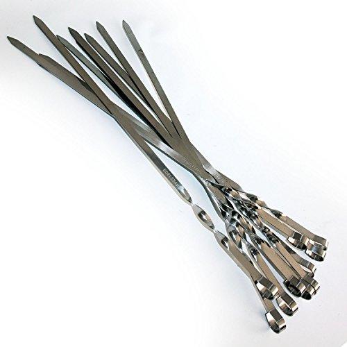10 Schaschlikspiesse 1,5 mm. Edelstahl 40cm. Schampura Grillspiesse Fleischspiesse auch für Mangal