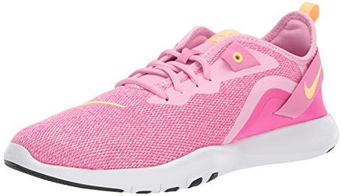 Nike Wmns Flex Trainer 9, Zapatillas de Deporte Mujer, Multicolor (Pink Rise/Melon Tint/Laser Fuchsia 000), 37.5 EU
