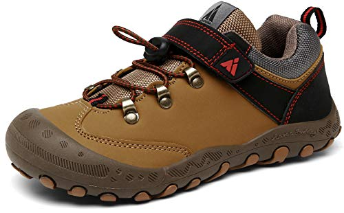 Mishansha Zapatillas de Senderismo Niños Zapatos Montaña Niña Calzado Trekking Niñas Transpirable Marrón 29 EU