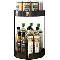 Apsan 2 Tier Lazy Susan Turntable Spice Rack Organizer for Cabinet