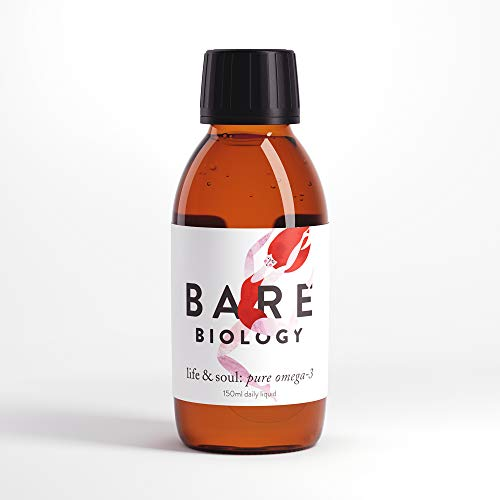 Bare Biology Life & Soul Pure Omega 3 Liquid (previously Lion Heart) - All Round Brilliance for Body, Mind & Soul - Suitable for Everyone - Super-Strength / Made from Sustainably Sourced Fish (150ml)