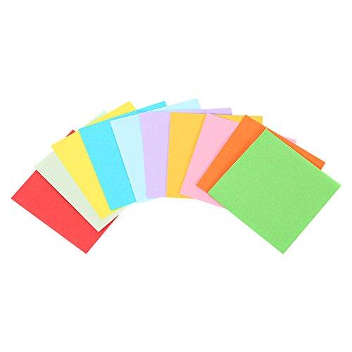 520 piezas 5x5 cm Papel de origami con 10 colores papel plegable cuadrado para doble cara hojas de artesanía de origami