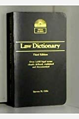 Law Dictionary (Barron's Legal Guides) Paperback
