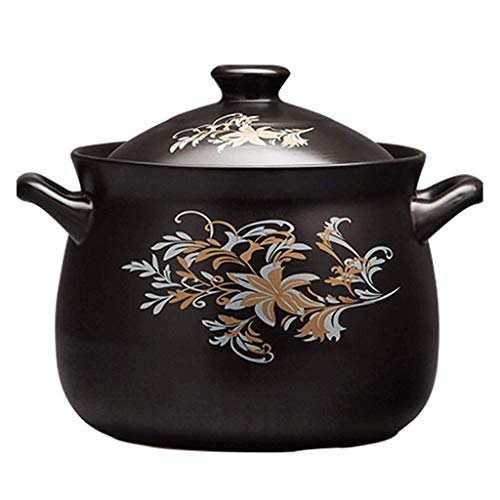 XIAO WEI Casserole Cookware Korean Style Ceramic Casserole Premium Stone Pot Best for Cooking Bibimbap Slow Stewing Soup etc. (Size: 2.5L)