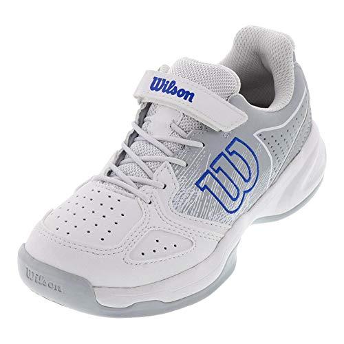 Wilson KAOS Junior Tennis shoes, White/Pearl Blue/Dazzling Blue, 1.5