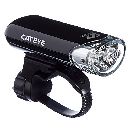 Cateye Hl-El135 LED-koplamp, glanzend, zwart