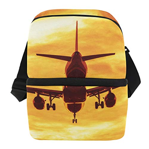 Picknick Ice Pack Schouderriem Lunch Bag Travel Koelbox Box Portable Business Flights Landing Sunset