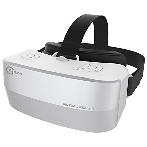 Kingcenton V12 VR All in One, Visual Reality Headset 3D Glasses - 2GB+16GB Android 4.4 5.5'' 1920x1080P HD IPS Display, Wi-Fi Bluetooth TF USB Supported for YouTube App Game Movie (No Need Phone)