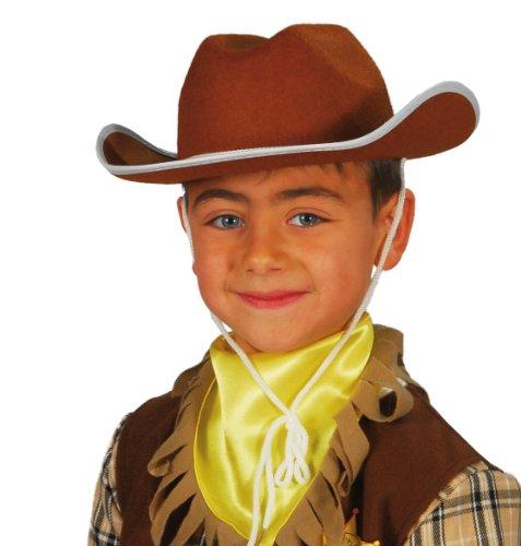 chapeau cow-boy enfant marron , chapeau western enfant