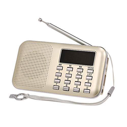 Docooler Y-896 Mini Radio FM Portátil 3W Estéreo Altavoz Reproductor de audio MP3 Alta fidelidad Calidad de sonido con pantalla de 2 pulgadas Soporte USB Unidad TF Tarjeta AUX-IN Salida de auriculares