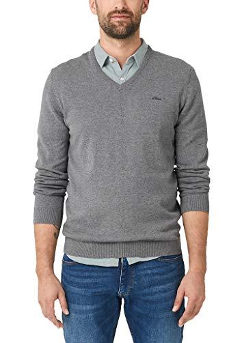 s.Oliver Herren 03.899.61.5233 Pullover, Grau (Blend Grey 9730), Medium