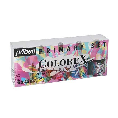 Pebeo Colorex, Watercolor Ink, 5 assorted 45 ml Bottles
