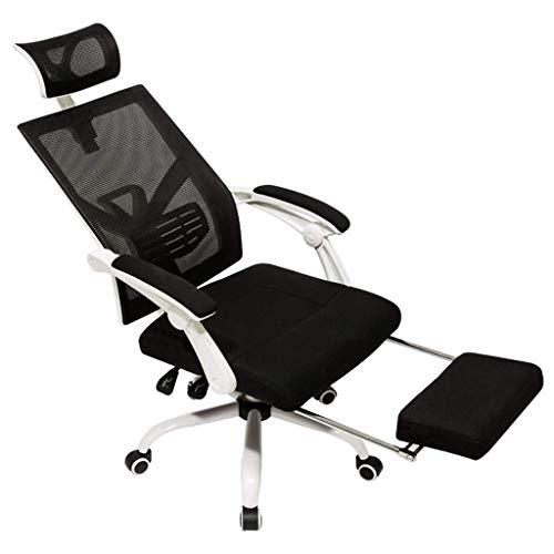 N/Z Daily Equipment Silla para computadora Oficina en casa Silla Boss Respaldo Silla ergonómica para Juegos Cómoda Silla de Oficina reclinable Carga 200Kg Negro 64 * 64 * 117Cm Negro 64 * 64 * 117cm