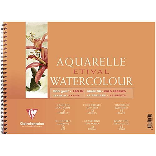 Clairefontaine 96070C Album a Spirale Etival, 18 x 24 cm, 12 Fogli, Bianco