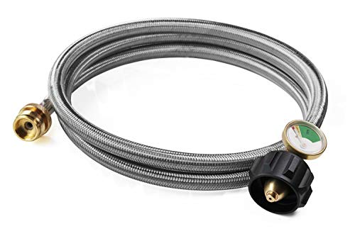 DOZYANT 6 Feet Stainless Braided Propane Hose Adapter with Propane...