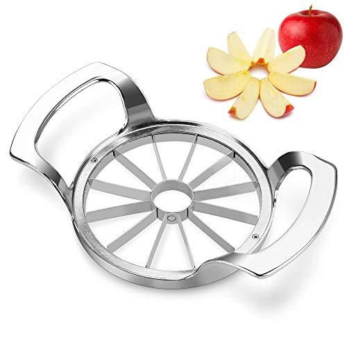 Apple Slicer ENLOY Stainless Steel UltraSharp 12Blade Apple Corer Upgraded Version Extra Large Apple Cutter Divider for Up to 4 Inches Apples