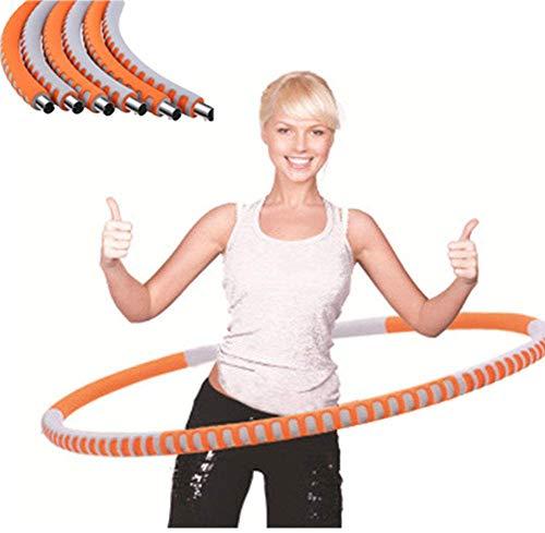 TONG Hula Hoop-Serie Zur Gewichtsreduktion,Reifen Mit Schaumstoff 1.5Kg Gewichten Beschwerter Hula-Hoop-Reifen Für Fitness (A)