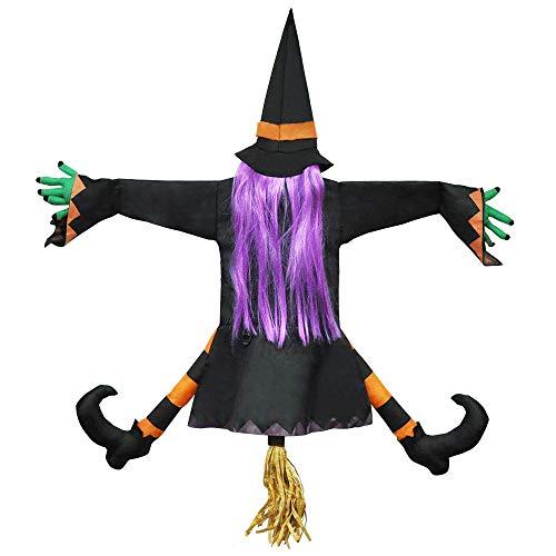 JOYIN Bruja Chocando contra el Árbol Decoración de Halloween