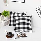 Farmhouse Christmas Decor Pillow Covers, Black and...
