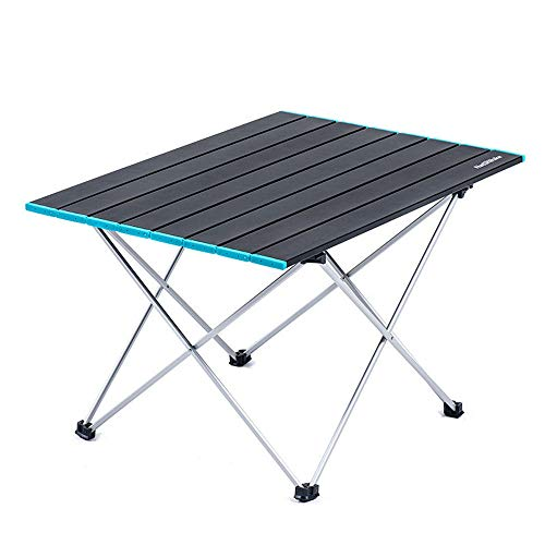 Mesa de picnic plegable, mesa plegable de aleación de aleación de aleación de aluminio claro, mesa de picnic plegable con bolsa de transporte, adecuado para camping al aire libre / de picnic / barbaco