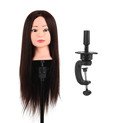 Pema Hair Extensions And Wigs Saloon Use Dummy for Hair Styling, Practice, Cutting with a Clamp Stand