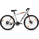 """Lectro Kinza 27.5T SS Single Speed Electric Cycle - 18"""" Frame (Light Grey & Black) (No-Cost EMI Available)"""