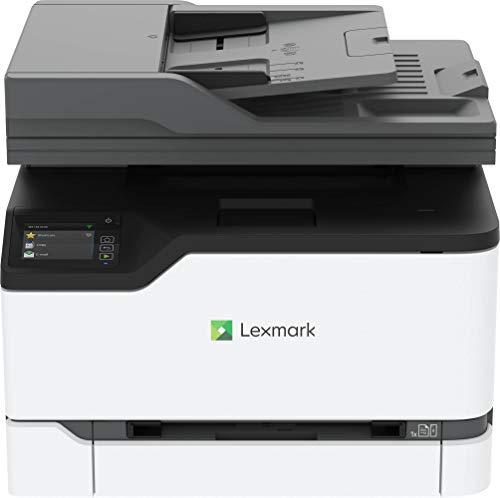 Lexmark MC3426ADW 4-in-1 Farblaser-Multifunktionsgerät (Drucker, Kopierer, Scanner, Fax, WLAN, LAN, bis zu 24 S./Min, autom. beidseitiger Druck, 7,2 cm-Touchscreen), weiß, grau, normal