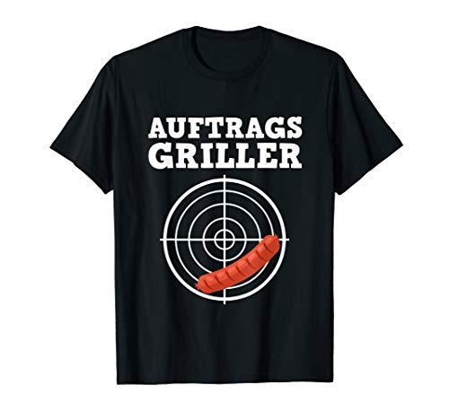 Auftragsgriller Geschenk für Grillmeister als lustiges Grill T-Shirt