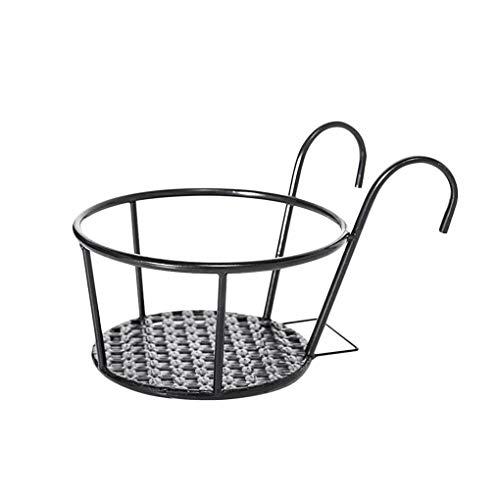 Shangjunol Flower Pot Holder Iron Art Hanging Basket Balcony Garden Home Ornament Planter Pot Support Stand