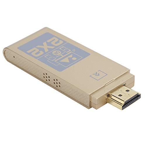 Adaptador de Pantalla inalámbrico, HDTV Display Dongle 4K HD HDMI 2.4G Receptor inalámbrico Screen Mirroring Adaptador de Dispositivo para Monitor, proyector, Consola de Juegos