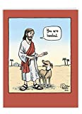 NobleWorks - Big Get Well Soon Card Funny (8.5 x 11 Inch) - Cartoon Feel Better Notecard, Humor Greeting - You Are Heeled J6359GWG