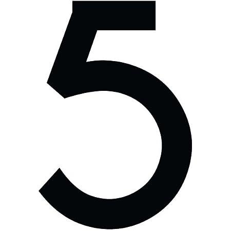 1peak Zahlenaufkleber Nummer 5 Schwarz 20cm 200mm Hoch Aufkleber Mit Zahlen In Vielen Farben Höhen Wetterfest Küche Haushalt