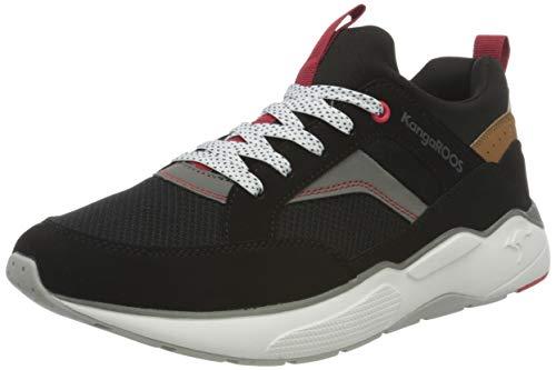 KangaROOS Herren KO-Smart Sneaker, Jet Black/Steel Grey 5003, 43 EU