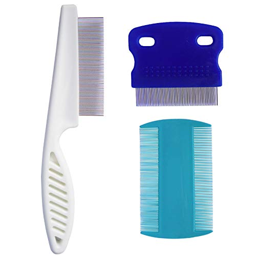 zYoung 3 Pcs Pet Dog Cat Comb,Tear Stain Remover